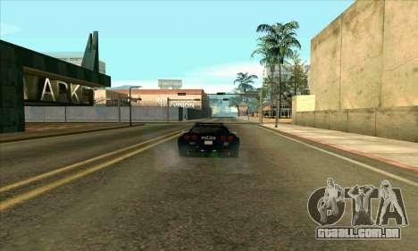 FCPD Chevrolet Corvette Z06 para GTA San Andreas esquerda vista
