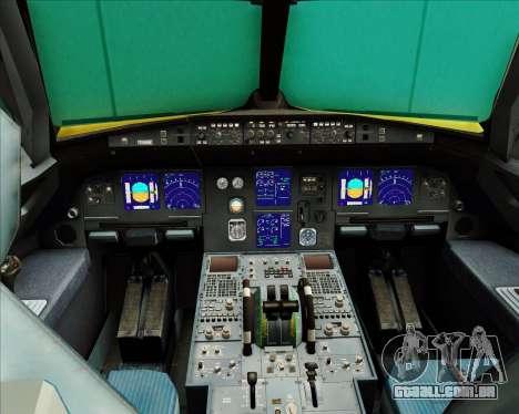 Airbus A321-200 para GTA San Andreas interior