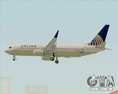 Boeing 737-824 United Airlines para GTA San Andreas vista superior