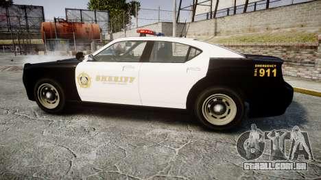 GTA V Bravado Buffalo LS Sheriff Black [ELS] para GTA 4 esquerda vista