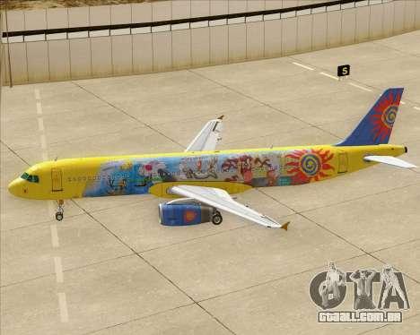 Airbus A321-200 para as rodas de GTA San Andreas