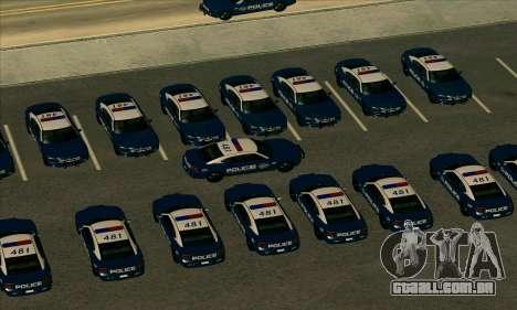 FCPD Dodge Charger SRT8 para GTA San Andreas traseira esquerda vista