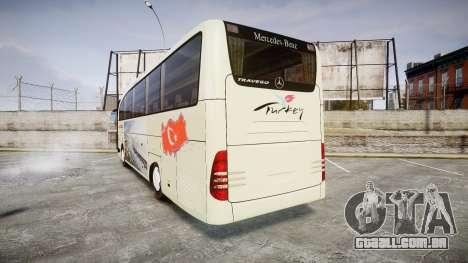 Mercedes-Benz Travego Turkey para GTA 4 traseira esquerda vista