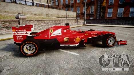 Ferrari F138 v2.0 [RIV] Alonso THD para GTA 4 esquerda vista