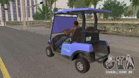 Caddy from GTA 5 para GTA San Andreas esquerda vista