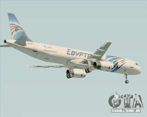 Airbus A321-200 EgyptAir para GTA San Andreas vista traseira