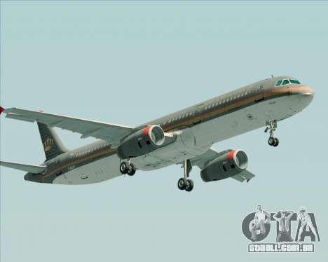 Airbus A321-200 Royal Jordanian Airlines para GTA San Andreas esquerda vista