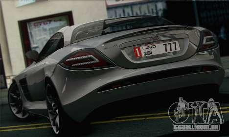 Mercedes-Benz SLR McLaren para GTA San Andreas traseira esquerda vista