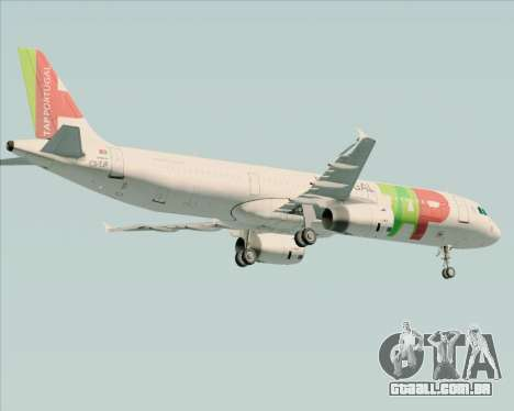 Airbus A321-200 TAP Portugal para GTA San Andreas vista direita