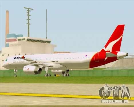 Airbus A321-200 Qantas para vista lateral GTA San Andreas
