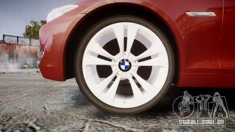 BMW 530d F11 para GTA 4 vista de volta