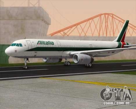 Airbus A321-200 Alitalia para GTA San Andreas traseira esquerda vista