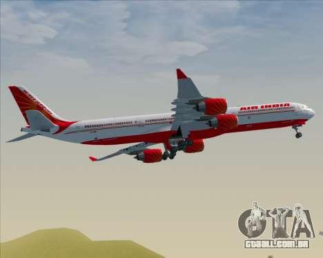 Airbus A340-600 Air India para GTA San Andreas vista traseira