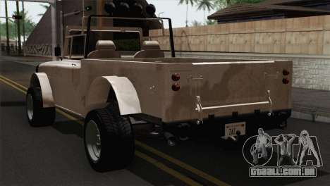 Canis Bodhi V1.0 Army para GTA San Andreas esquerda vista