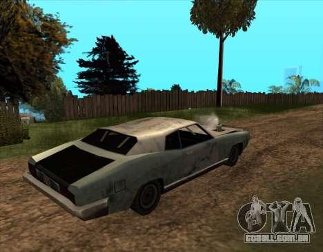 Pós-Apocalíptica Buccaneer para GTA San Andreas esquerda vista