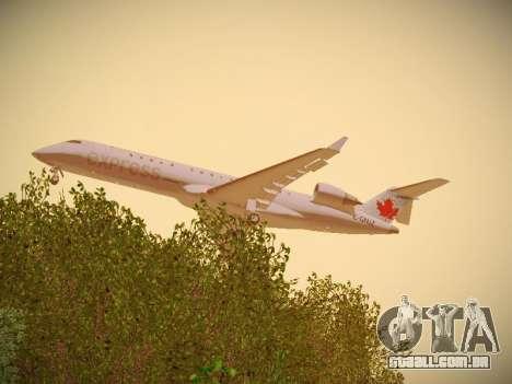 Bombardier CRJ-700 Air Canada Express para GTA San Andreas vista direita