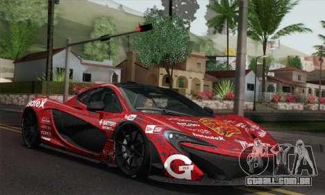 McLaren P1 HQ para GTA San Andreas vista inferior