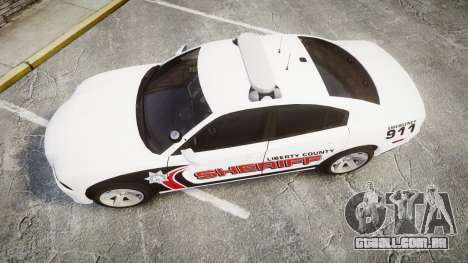 Dodge Charger RT 2013 LC Sheriff [ELS] para GTA 4 vista direita
