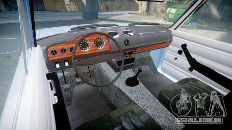 UTILIZANDO-2106 (Lada 2106) para GTA 4 vista interior