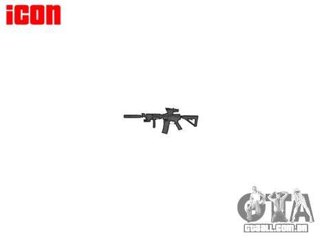 Máquina Tático M4A1 CQB para GTA 4 terceira tela