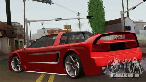 New Infernus para GTA San Andreas esquerda vista