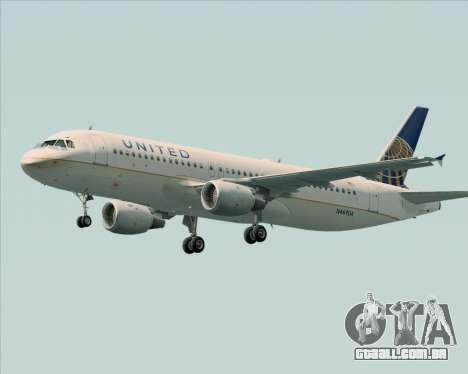 Airbus A320-232 United Airlines para as rodas de GTA San Andreas
