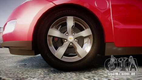 Chevrolet Volt 2011 v1.01 rims1 para GTA 4 vista de volta