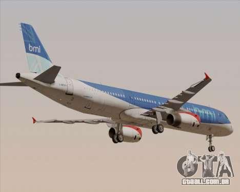 Airbus A321-200 British Midland International para GTA San Andreas vista superior