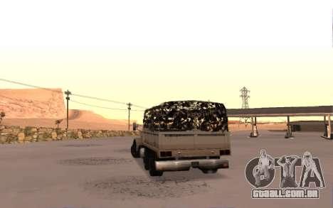 Quartel com quatro portas para GTA San Andreas traseira esquerda vista