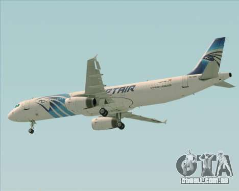 Airbus A321-200 EgyptAir para GTA San Andreas vista inferior