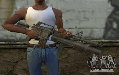 CAR-15 with XM-148 from Battlefield: Vietnam para GTA San Andreas terceira tela