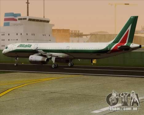 Airbus A321-200 Alitalia para GTA San Andreas vista interior