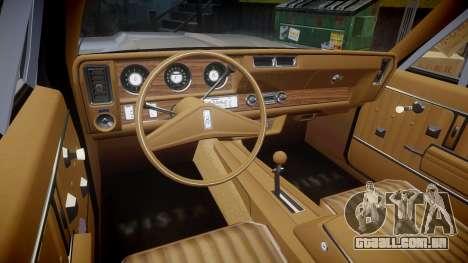 Oldsmobile Vista Cruiser 1972 Rims1 Tree3 para GTA 4 vista de volta