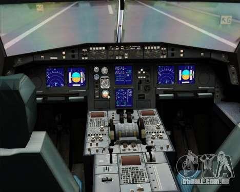 Airbus A330-300X Swiss International Air Lines para GTA San Andreas interior