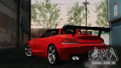 BMW Z4 sDrive28i 2012 Racing para GTA San Andreas esquerda vista