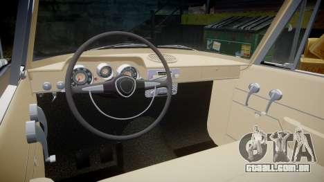 FSO Warszawa Ghia 1959 para GTA 4 vista interior