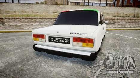 VAZ-2107 Itália para GTA 4 traseira esquerda vista