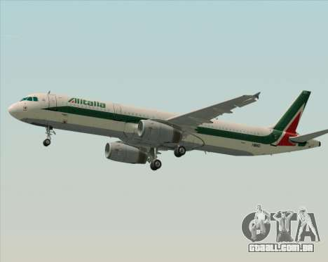 Airbus A321-200 Alitalia para o motor de GTA San Andreas