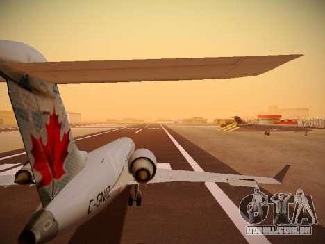 Bombardier CRJ-700 Air Canada Express para GTA San Andreas vista inferior