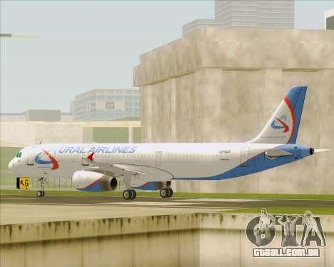 Airbus A321-200 Ural Airlines para GTA San Andreas traseira esquerda vista