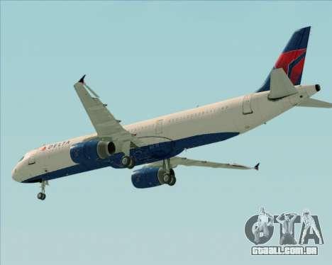 Airbus A321-200 Delta Air Lines para vista lateral GTA San Andreas