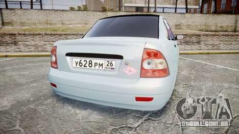 ВАЗ-2170 Instalado Antes do para GTA 4 traseira esquerda vista