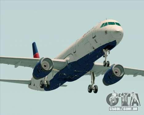 Airbus A321-200 Delta Air Lines para GTA San Andreas esquerda vista