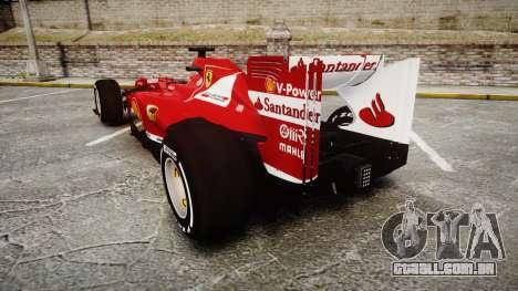 Ferrari F138 v2.0 [RIV] Alonso TMD para GTA 4 traseira esquerda vista