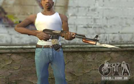 AK47 from Firearms v1 para GTA San Andreas terceira tela