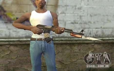AK47 from Firearms v1 para GTA San Andreas terceira tela