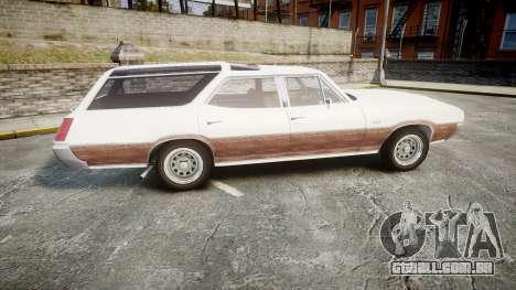 Oldsmobile Vista Cruiser 1972 Rims1 Tree3 para GTA 4 esquerda vista