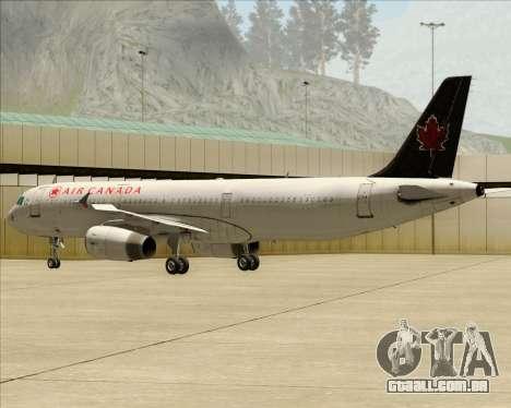 Airbus A321-200 Air Canada para GTA San Andreas vista direita