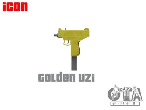 Golden Uzi para GTA 4 terceira tela