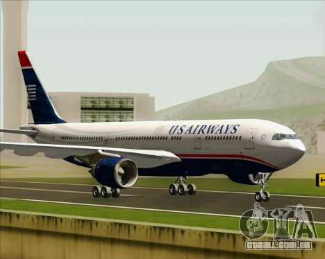 Airbus A330-200 US Airways para GTA San Andreas esquerda vista